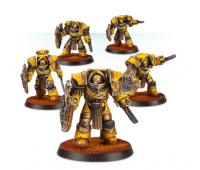Imperial Fists Cataphractii Terminators with Storm Shields